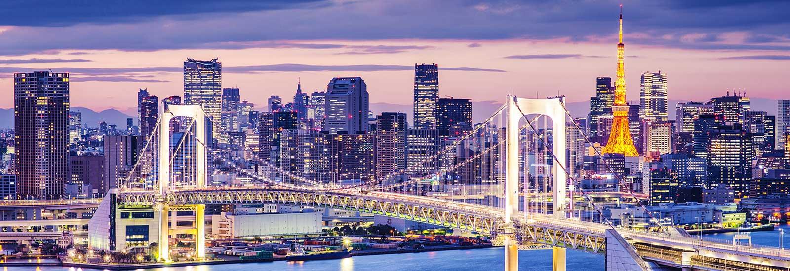 rainbow bridge tokyo tower
